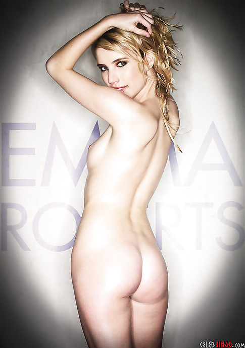 Beautiful Emma Roberts stinky panties
